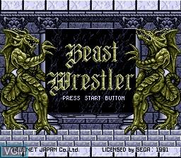 Title screen of the game Beast Wrestler on Sega Megadrive
