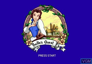 Title screen of the game Beauty and the Beast - Belle's Quest on Sega Megadrive