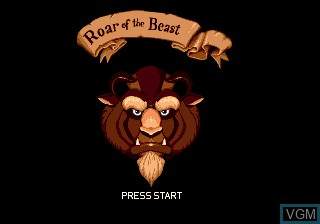 Title screen of the game Beauty and the Beast - Roar of the Beast on Sega Megadrive