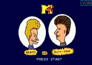Title screen of the game Beavis and Butt-head on Sega Megadrive