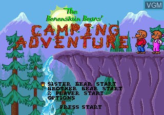 Title screen of the game Berenstain Bears', The - Camping Adventure on Sega Megadrive