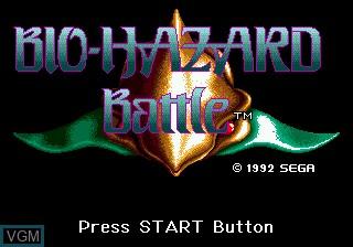Title screen of the game Bio-Hazard Battle on Sega Megadrive