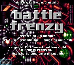 Title screen of the game Blood Shot on Sega Megadrive