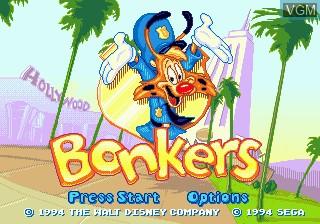 Title screen of the game Bonkers on Sega Megadrive