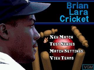 Title screen of the game Brian Lara Cricket on Sega Megadrive
