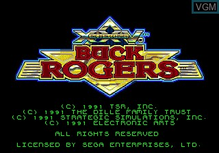 Title screen of the game Buck Rogers - Countdown to Doomsday on Sega Megadrive