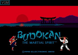 Title screen of the game Budokan - The Martial Spirit on Sega Megadrive