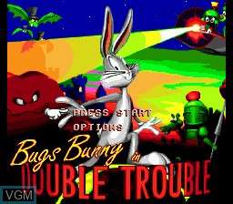 Title screen of the game Bugs Bunny in Double Trouble on Sega Megadrive