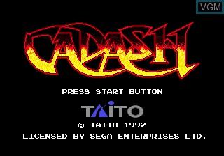 Title screen of the game Cadash on Sega Megadrive