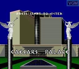 Title screen of the game Caesars Palace on Sega Megadrive