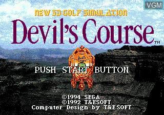 Title screen of the game Devil's Course 3-D Golf on Sega Megadrive
