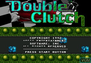 Title screen of the game Double Clutch on Sega Megadrive