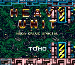 Title screen of the game Heavy Unit on Sega Megadrive