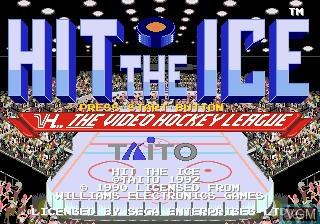 Title screen of the game Hit The Ice on Sega Megadrive