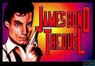 Title screen of the game James Bond 007 - The Duel on Sega Megadrive