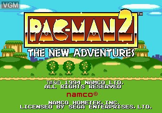 Title screen of the game Pac-Man 2 - The New Adventures on Sega Megadrive