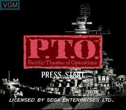Title screen of the game P.T.O. Pacific Theater of Operations on Sega Megadrive