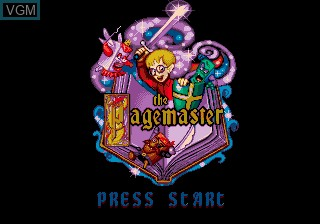 Title screen of the game Pagemaster, The on Sega Megadrive