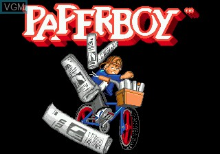 Title screen of the game Paperboy on Sega Megadrive