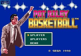 Title screen of the game Pat Riley Basketball on Sega Megadrive