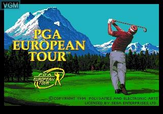 Title screen of the game PGA European Tour on Sega Megadrive