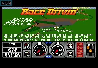 Title screen of the game Race Drivin' on Sega Megadrive