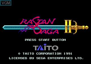 Title screen of the game Rastan Saga II on Sega Megadrive
