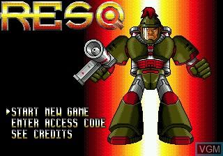 Title screen of the game Resq on Sega Megadrive