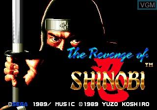 Title screen of the game Revenge of Shinobi, The on Sega Megadrive