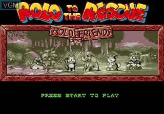 Title screen of the game Zou! Zou! Zou! Rescue Daisenryaku on Sega Megadrive