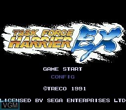 Title screen of the game Task Force Harrier EX on Sega Megadrive