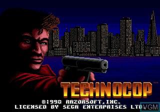 Title screen of the game Technocop on Sega Megadrive