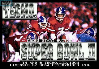 Title screen of the game Tecmo Super Bowl II SE on Sega Megadrive