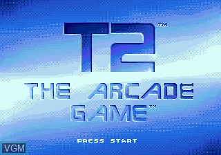 Title screen of the game T2 - The Arcade Game on Sega Megadrive