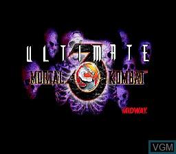 Title screen of the game Ultimate Mortal Kombat 3 on Sega Megadrive