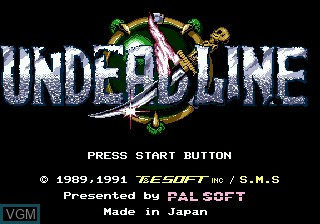 Title screen of the game Undead Line on Sega Megadrive