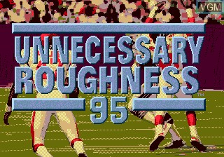Title screen of the game Unnecessary Roughness 95 on Sega Megadrive