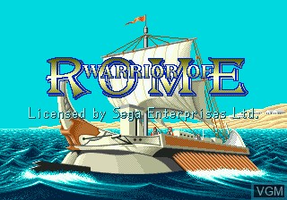 Title screen of the game Warrior of Rome on Sega Megadrive