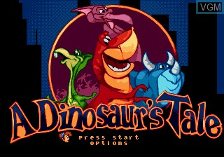 Title screen of the game We're Back! - A Dinosaur's Tale on Sega Megadrive