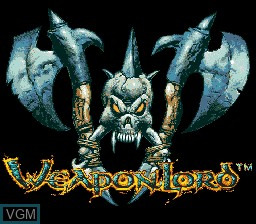 Title screen of the game Weaponlord on Sega Megadrive