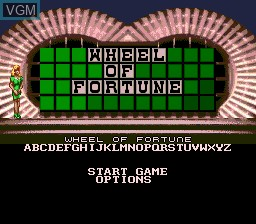 Title screen of the game Wheel of Fortune on Sega Megadrive