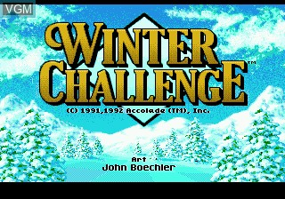 Title screen of the game Winter Challenge on Sega Megadrive