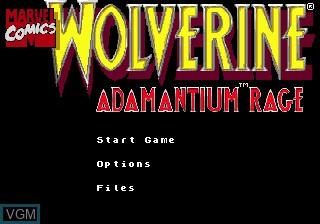 Title screen of the game Wolverine Adamantium Rage on Sega Megadrive