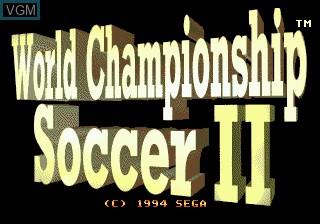Title screen of the game World Championship Soccer II on Sega Megadrive