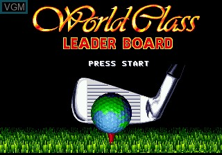 Title screen of the game World Class Leaderboard Golf on Sega Megadrive