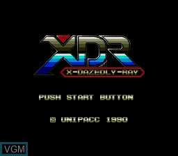 Title screen of the game X Dazedly Ray on Sega Megadrive