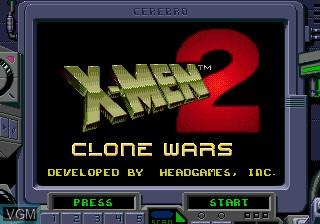 Title screen of the game X-Men 2 - Clone Wars on Sega Megadrive