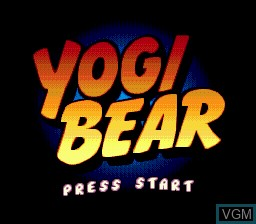 Title screen of the game Yogi Bear's Cartoon Capers on Sega Megadrive