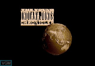 Title screen of the game Young Indiana Jones Chronicles on Sega Megadrive