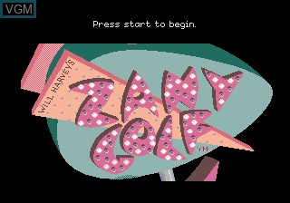 Title screen of the game Zany Golf on Sega Megadrive